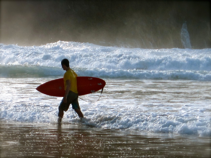 Praia da Cacimba do Padre, well-known destination by surfers, and observers
