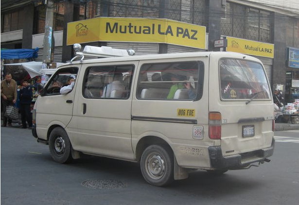Mini-bus in La Paz