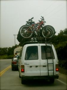 death road bikers...