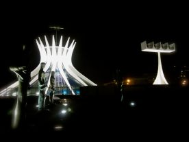 April 2012: Visiting the mystic city of Brasilia, capital of Brazil, for a USA/Brazil summit. Here, the architecture, lighting and unique beauty of the Metropolitan Cathedral.