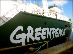 May 2012: A visit to the Rainbow Warrior, ship from Greenpeace on Brazilian Waters.