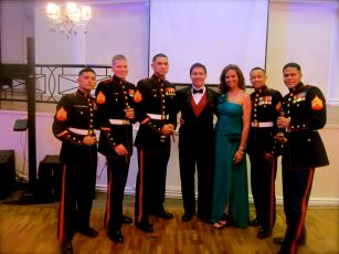 """November 2012: Celebrating the Anniversary of the Marine Corps. ""Who doesn't like a Ball?"""