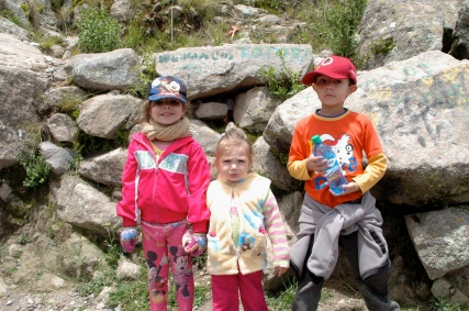 The little members of our family's hiking team - our kids!