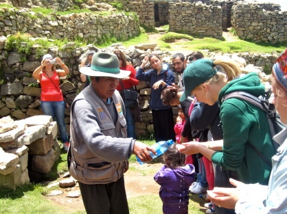 Blessing the hikers
