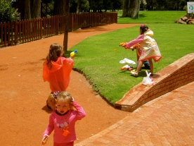 Join the traditional 'water balloon fights' during Carnaval!