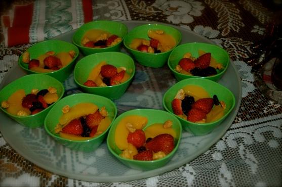 A heathy option: colorful & delicious fruit bowl