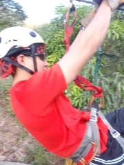 Zip Lining in Coroico