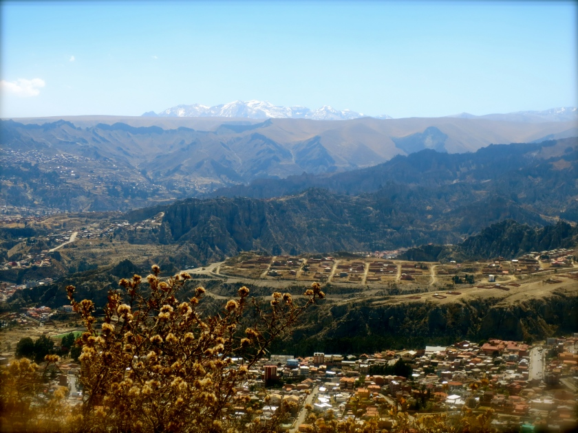 La Paz surrounded by mountains