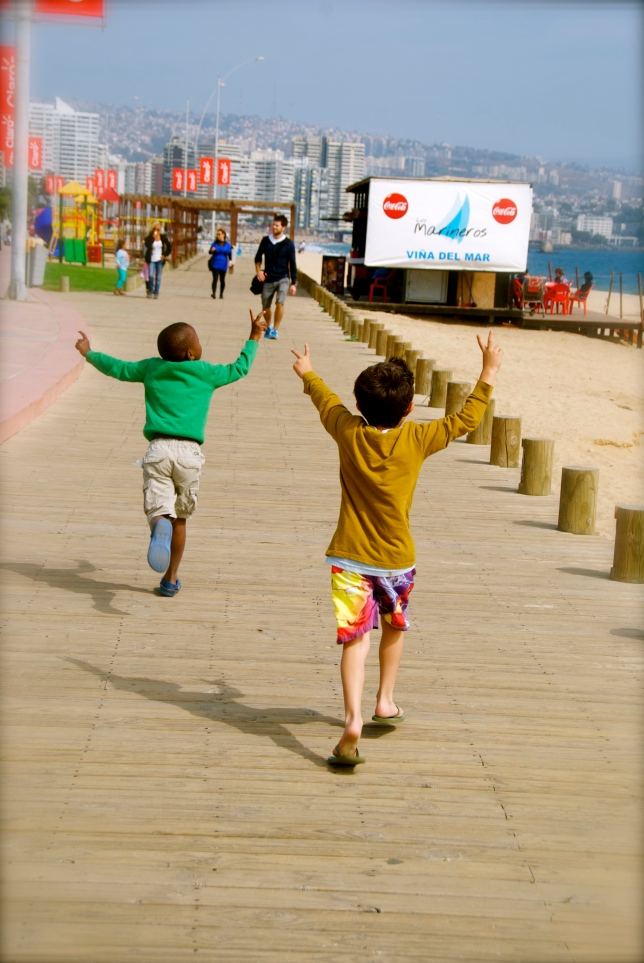fun by the boardwalk in Chile