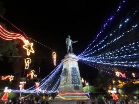 The city's main plaza